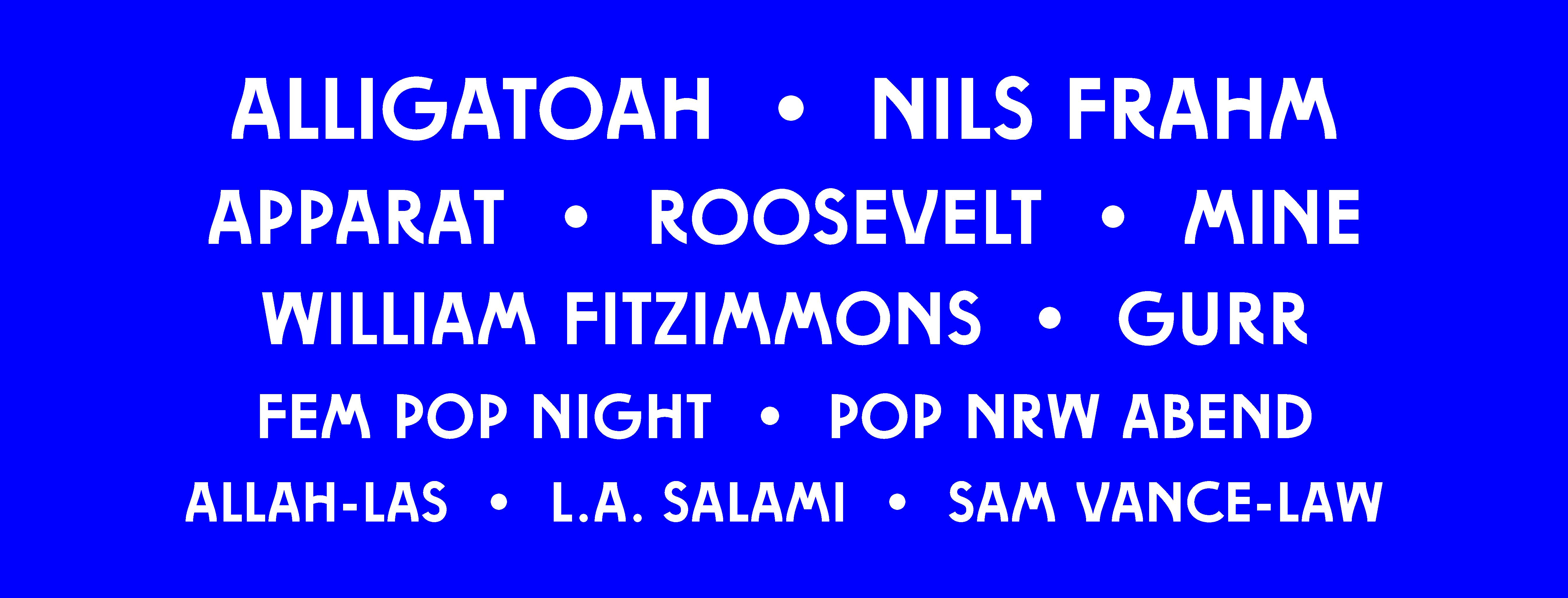 New Fall Festival gibt finales Line-Up für 2019 bekannt